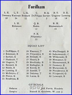1941 Fordham-Texas A&M Cotton Bowl Football Program. Aggies 13-Rams 12