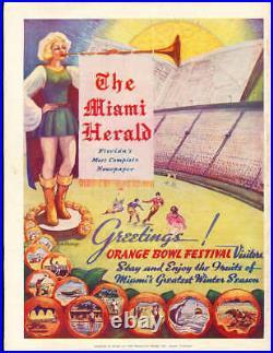 1941 Orange Bowl Football Program mississippi State vs Georgetown