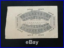 1941 Orange Bowl Mississippi State Maroons Georgetown Football Game Ticket Stub