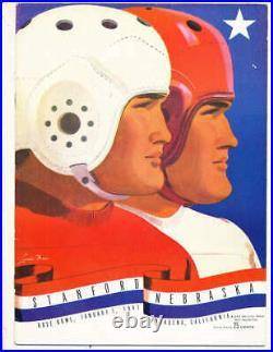 1941 Rose Bowl Football Program Stanford vs Nebraska