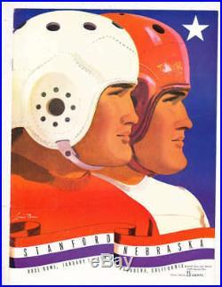 1941 Rose Bowl Football Program Stanford vs Nebraska a1