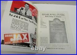 1941 Sugar Bowl Program Boston College v Tennessee Vols NMT Very Nice 68558