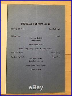 1942-1943 UCLA Football Banquet Program First Rose Bowl Team, First to beat SC
