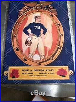 1942 OREGON STATE DUKE ROSE BOWL COLLEGE FOOTBALL GAME PROGRAM Durham Near mint