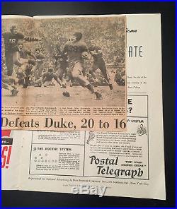 1942 OREGON STATE DUKE ROSE BOWL COLLEGE FOOTBALL GAME PROGRAM Moved 2 Durham NC