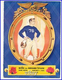 1942 Rose Bowl Football Program Duke vs Oregon state (played in Durham)