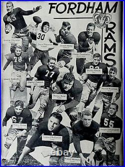1942 Sugar Bowl Fordham Rams Missouri Tigers Football Program. Rams Win 2-0