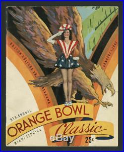 1943 ORANGE BOWL FOOTBALL PROGRAM ALABAMA CRIMSON TIDE vs BOSTON COLLEGE