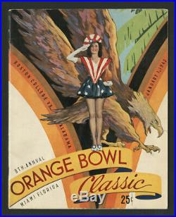 1943 Orange Bowl Football Program Alabama Crimson Tide Boston College Eagles Hq