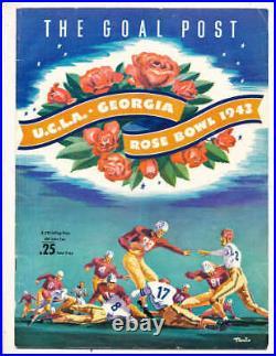1943 Rose Bowl Football Program UCLA vs Georgia