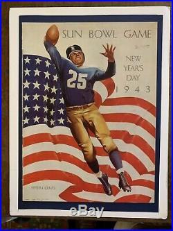 1943 Sun Bowl 2nd Air Force vs Hardin-Simmons football program/CAMP WILSON-MINT