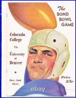 1944 Bond Bowl Game Colorado College vs Denver Football Program
