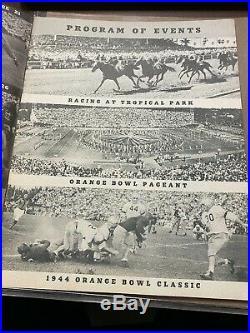 1944 Orange Bowl Football Program LSU vs Texas A&M VERY GOOD