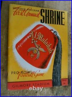1944 SHRINE 1ST ANNUAL PRO BOWL FOOTBALL PROGRAM KEN WASHINGTON Gimore Stadium