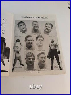 1945 Cotton Bowl Classic Program Oklahoma A. & M. Vs. Texas Christian University