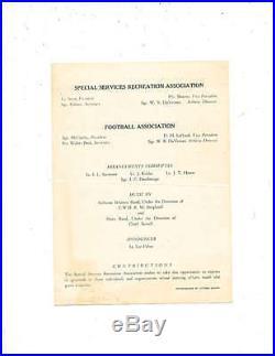 1945 Manila Bowl Football program Army vs Navy 1st Phillipines Game