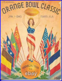 1945 Orange Bowl Georgia Tech vs Tulsa Football Program bx1