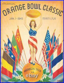 1945 Orange Bowl football Program Georgia Tech vs Tulsa