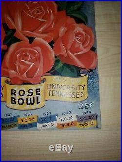 1945 Rose Bowl college football program USC Trojans Tennessee Volunteers, Clean
