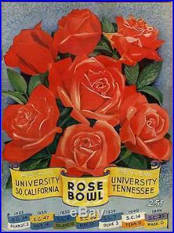 1945 Rose Bowl college football program USC Trojans Tennessee Volunteers residue