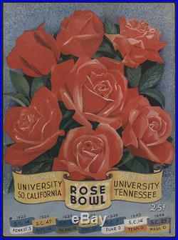 1945 Tennessee vs USC, ROSE BOWL Football Game Program