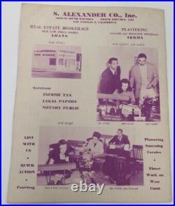 1946 Angel Bowl Program Inaugural HBCU Wiley v Florida A&M Wrigley Ex/MT 68882