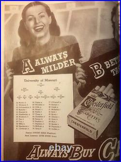 1946 Cotton Bowl Program Texas Longhorns v Missouri Mizzou Bobby Layne VG/Ex