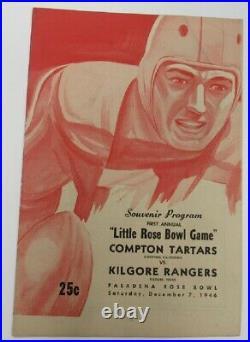 1946 Little Rose Bowl Program Compton College v Kilgore Texas Ex/MT Nice 68896
