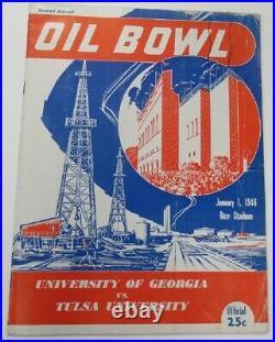 1946 Oil Bowl Program Georgia v Tulsa Charley Trippi Very Rare Ex 68858