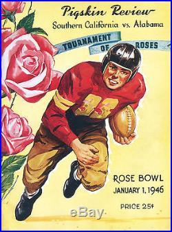 1946-ROSE BOWL-USC v. ALABAMA (HARRY GILMER)-PROGRAM-XLNT+