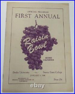 1946 Raisin Bowl Program Drake v Fresno State Ex/MT Nice 68859