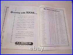 1946 University Of Texas Vs Missouri College Football Program Cotton Bowl Bn-19