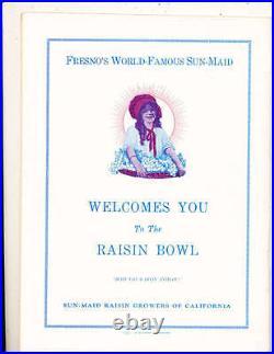 1947 1/1 Raisin bowl football program San Jose state vs Utah State
