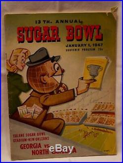 1947 Georgia North Carolina Sugar Bowl football game program