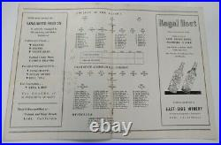 1947 Lodi Grape Bowl Program Inaugural College of Pacific v Utah State Rare Ex+