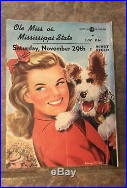 1947 Ole Miss vs Mississippi State Football Program Egg Bowl
