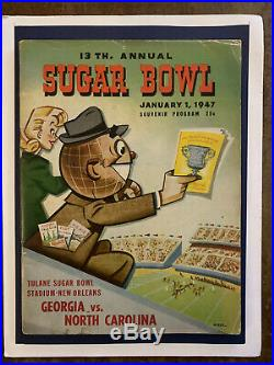1947 Sugar Bowl Georgia vs No. Carolina football program-C. TRIPPI vsCHOOJUSTICE
