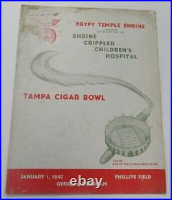 1947 Tampa Cigar Bowl Program 1st Game Delaware v Rollins Very Rare Ex 68914