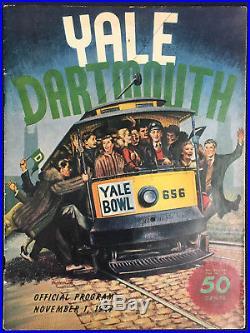 1947 Yale Dartmouth University Football Program Bulldogs vs Big Green Yale Bowl