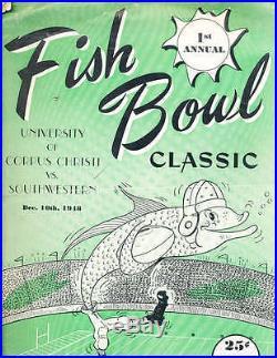 1948 12/10 Fish Bowl Football Program Corpus Christi vs Southwestern