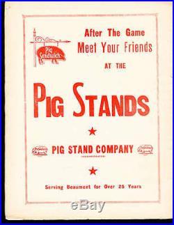 1948 12/17 Spindletop bowl football program Lamar college vs Hinds Junior Colleg