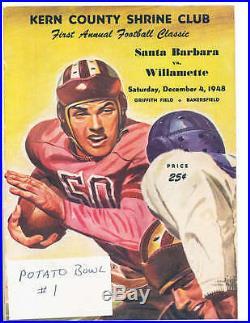 1948 12/4 Potato Bowl Shrine Football program Santa Barbara vs Willamette