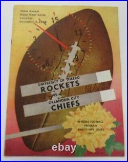 1948 Glass Bowl Game Program Toledo v Oklahoma City 12/4 Ohio Ex/MT 68885