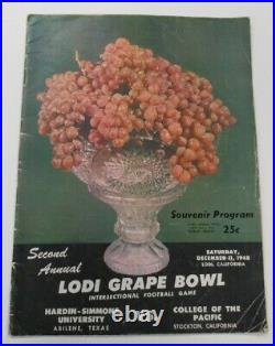 1948 Lodi Grape Bowl Program Hardin-Simmons v College of Pacific Ex 68865