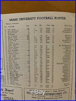 1948 Sun Bowl Texas Tech vs Miami of Miami Football Program/SID GILLMAN-MINT