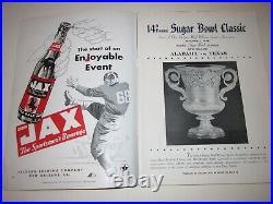 1948 University Of Texas Vs Alabama College Football Program Sugar Bowl Bn-19