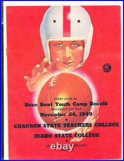 1949 11/24 Bean Bowl Football Program Chadron State vs Idaho State