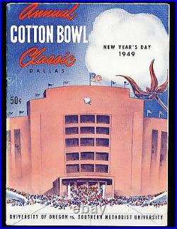 1949 Cotton Bowl football program Oregon vs SMU