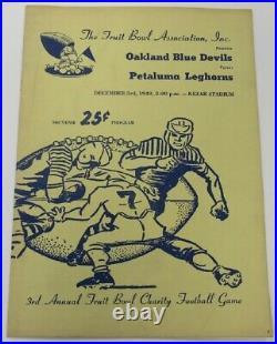 1949 Fuit Bowl Oakland v Petaluma Very Rare Kezar Stadium Ex/MT68851