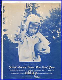 1949 Pear Bowl Game Football program Pacific University vs UC Davis Medford Or